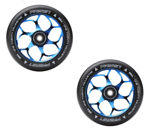 Fasen Stunt-Scooter Wheel trick freestyle Roller Rolle 120mm Hypno Dot Neochrome