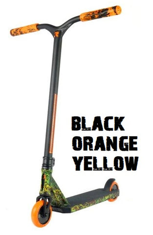 invictus complete pro scooter root industries black orange yellow