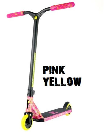 invictus complete pro scooter root industries pink yellow