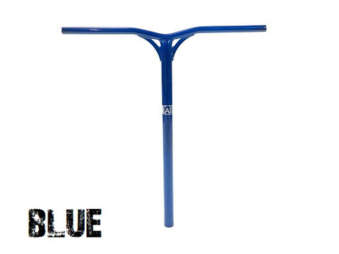 lucky scooters aluminum scooter bars AI blue