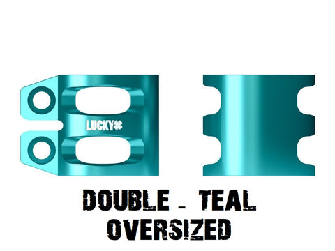 lucky scooters double scooter clamp oversized teal
