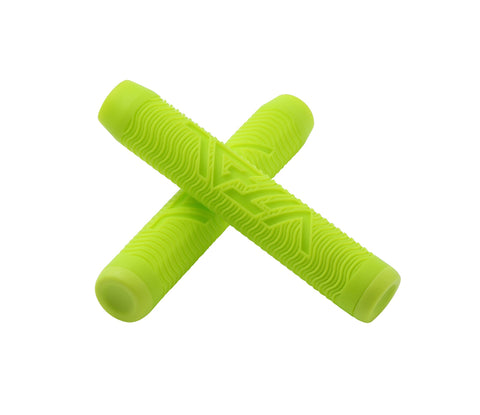 bright shiny yellow green pro scooter grips from vital scooters