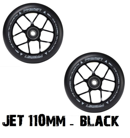 110mm pro scooter wheels black fasen jet