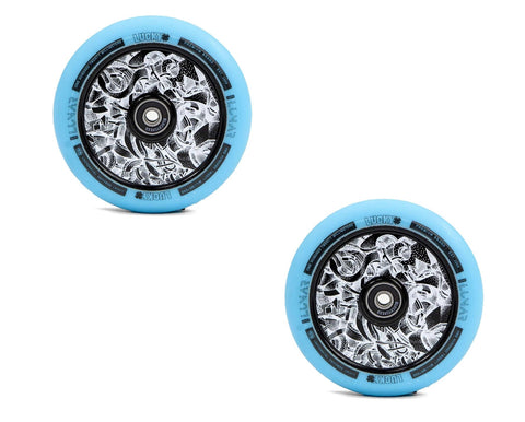 pro scooter wheels 120mm lucky axis teal