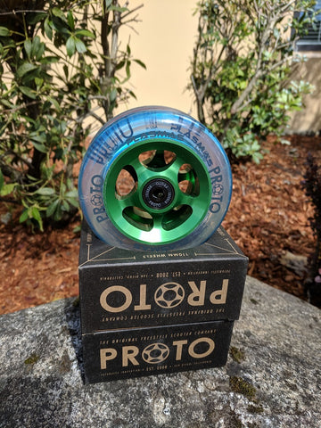 proto plasma scooter wheels green