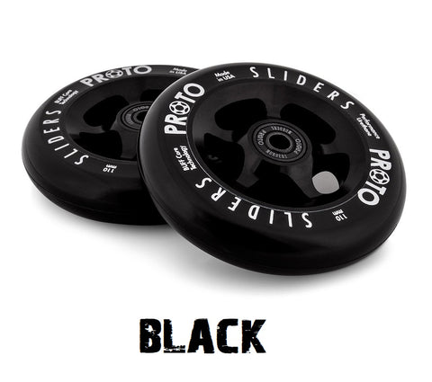 proto sliders pro scooter wheels black