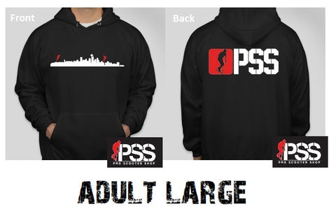 pro scooter shop pss hoodie sweatshirt adult large