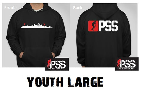 pss scooter hoodies pro scooter shop sweatshirt black youth large