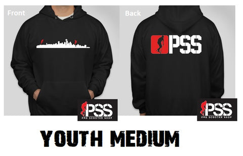 pss scooter hoodies pro scooter shop sweatshirt black youth medium