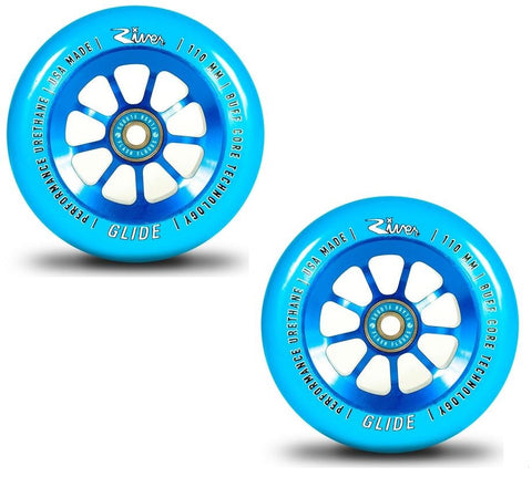 river wheel co pro scooter wheels glides blue sapphire 110mm