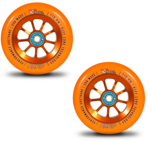 river rapid orange pro scooter wheels