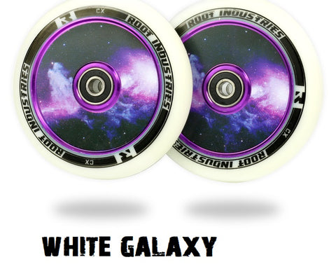 root industries scooter wheels air 110mm white galaxy
