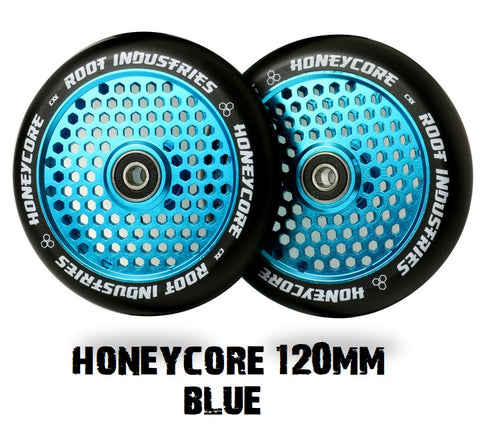 root industries honeycore scooter wheels 120mm blue