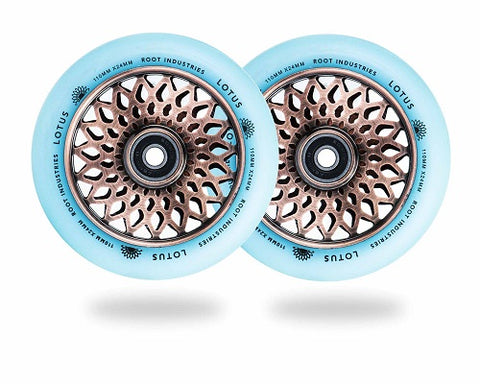 root industries lotus scooter wheels 110mm copper isotope
