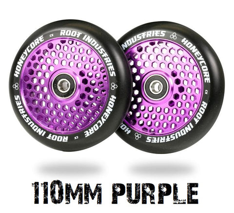 honeycore 110mm scooter wheels root industries purple