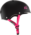 scooter helmets s1 s one matte black pink adult small