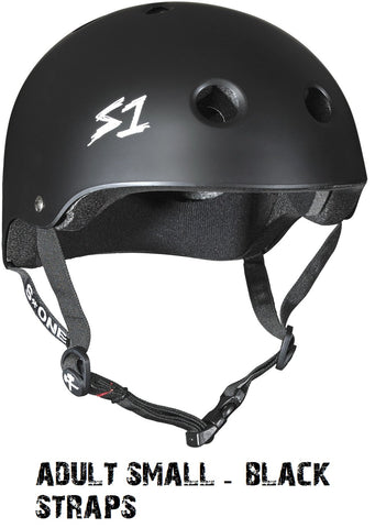 S1 S One Lifer Scooter Helmet matte black straps adult small