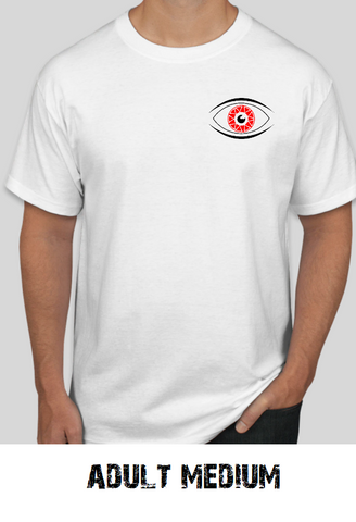 wrrecked wax white tees shirts the eye - adult medium