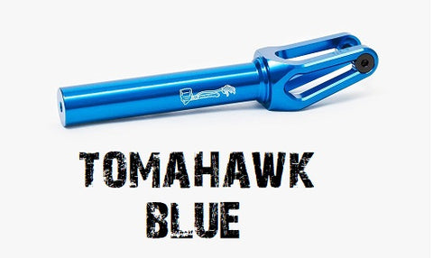 tilt scooters tomahawk scooter fork 120mm blue