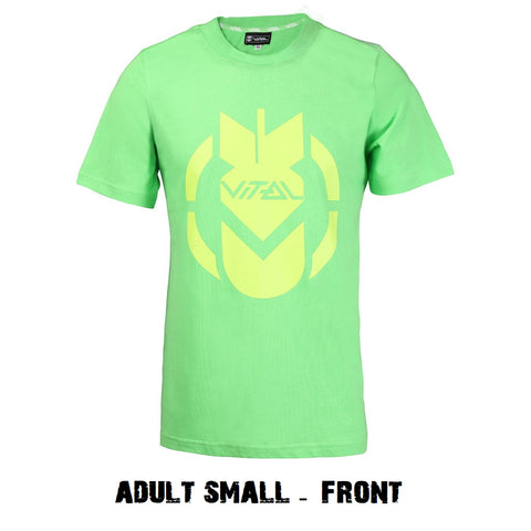 vital scooters pro scooter tshirt green bomb adult small
