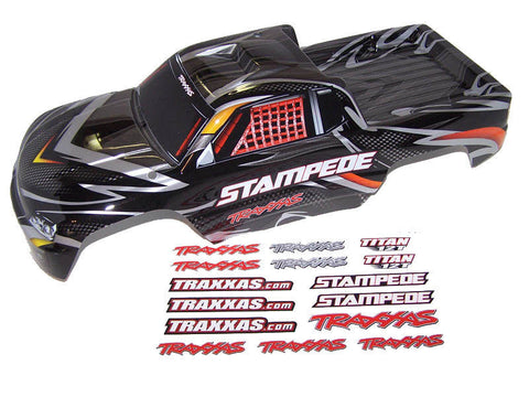 Traxxas 36054-1 Stampede Truck Black Edition Prographix Body & Decals