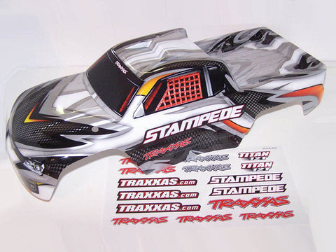 Traxxas 36054-1 Stampede Truck SILVER Edition Body & Decals