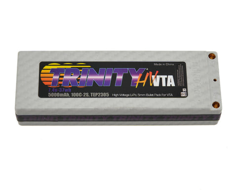 Trinity TEP2305 High Voltage VTA Battery Pack 2S 7.4v 5000mah 100C 5mm Bullets