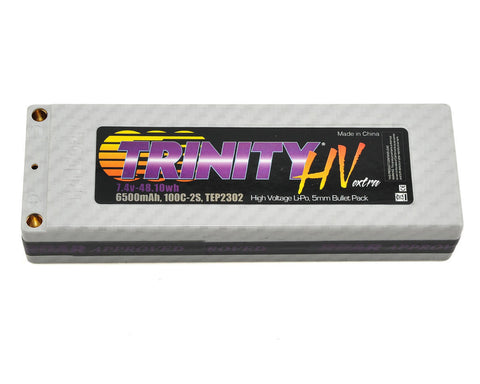 Trinity TEP2302 High Voltage Battery Pack, 2S 7.4v 6500mah 100C, w/ 5mm Bullets