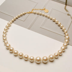 [NCP] Gradation Cotton Pearl Necklace