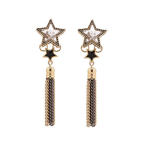 Star Rita Fringe Earrings