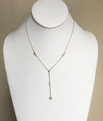 New Star CZ Paved Y Necklace - new