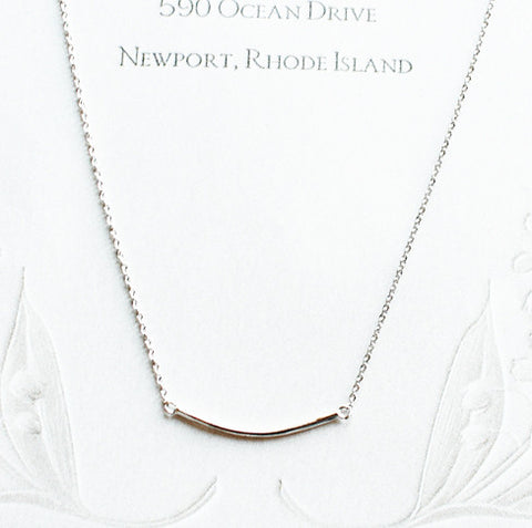 [NS] Curved Bar Charm Necklace - new