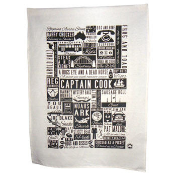 rhyming sland tea towel