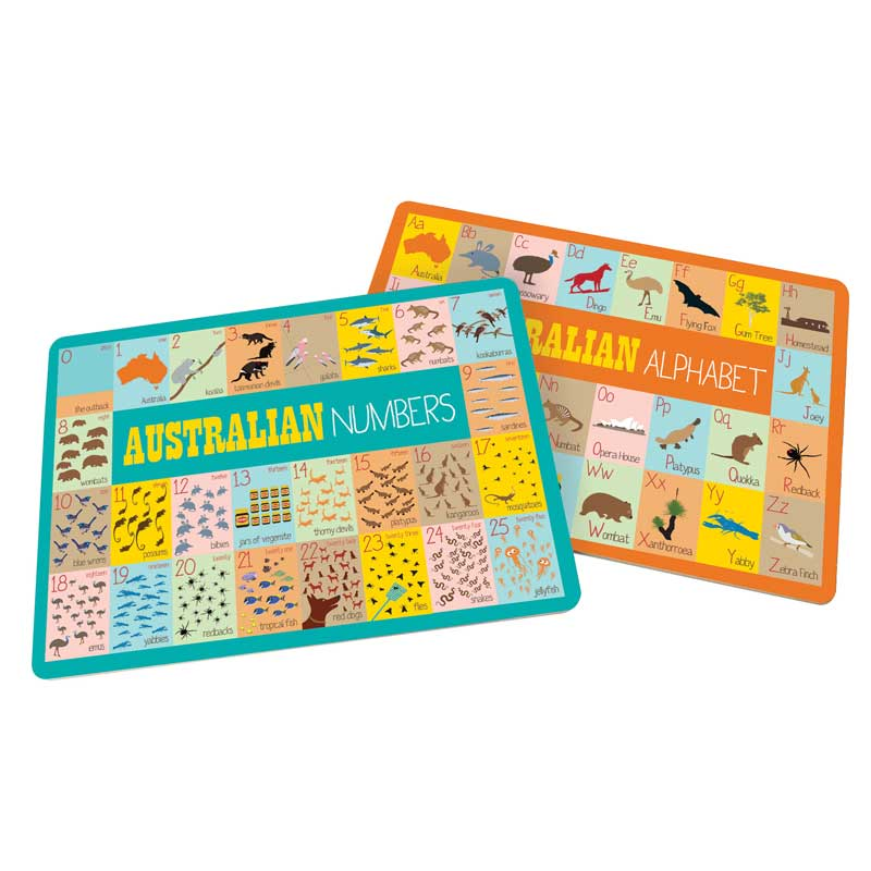 Australiana Gifts for Kids - Alphabet Placemats