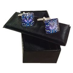 Bush tucker cufflinks blue
