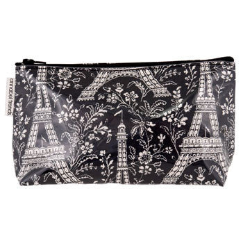 Black paris cosmetic bag