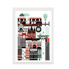 Melbourne superplaces greeting card