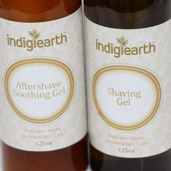 Shaving gel and aftershave soothing gel