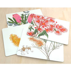 Australian flowers bloom placemat pack