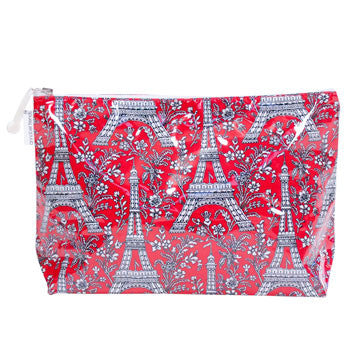 red Paris cosmetic bag