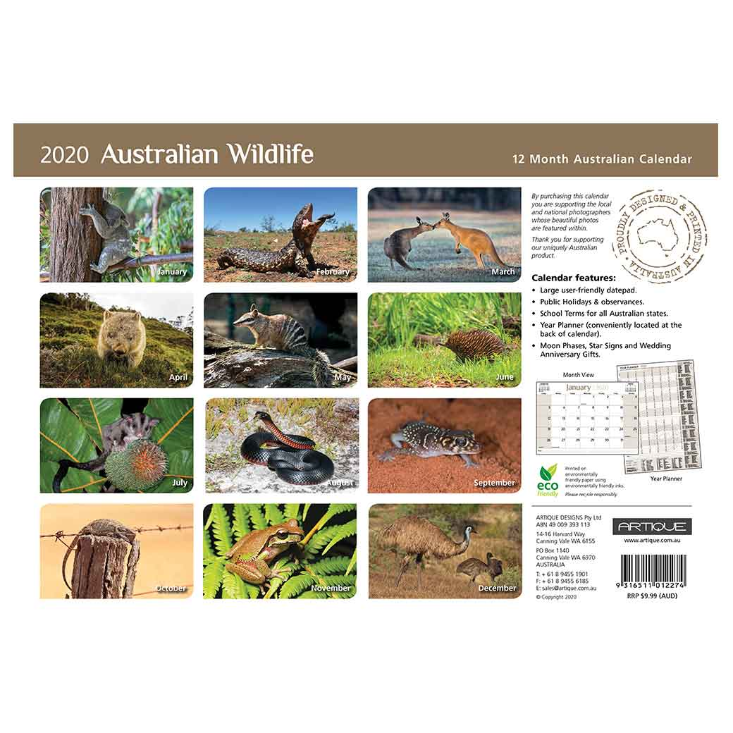 Australian Calendars 2020 - Large Selection Buy Online Made in Australia $10