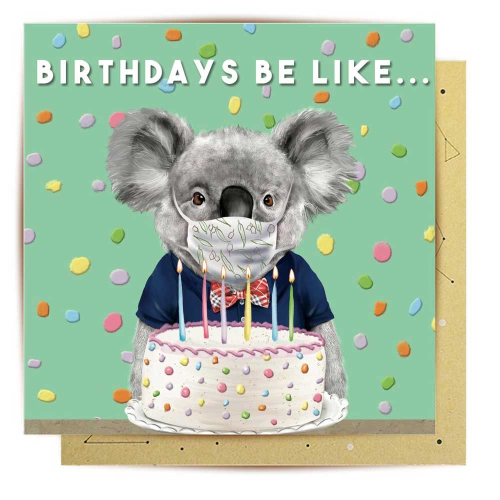 COVID Koala Birthday Card