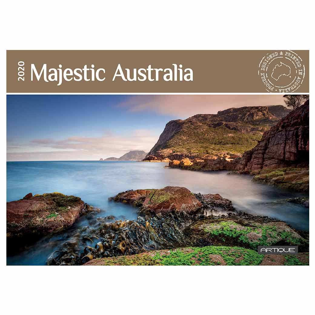 Australian Tourism Calendars 2020 Majestic & Scenic Cliffs, Mountains, Beaches, Deserts Printed in Australia
