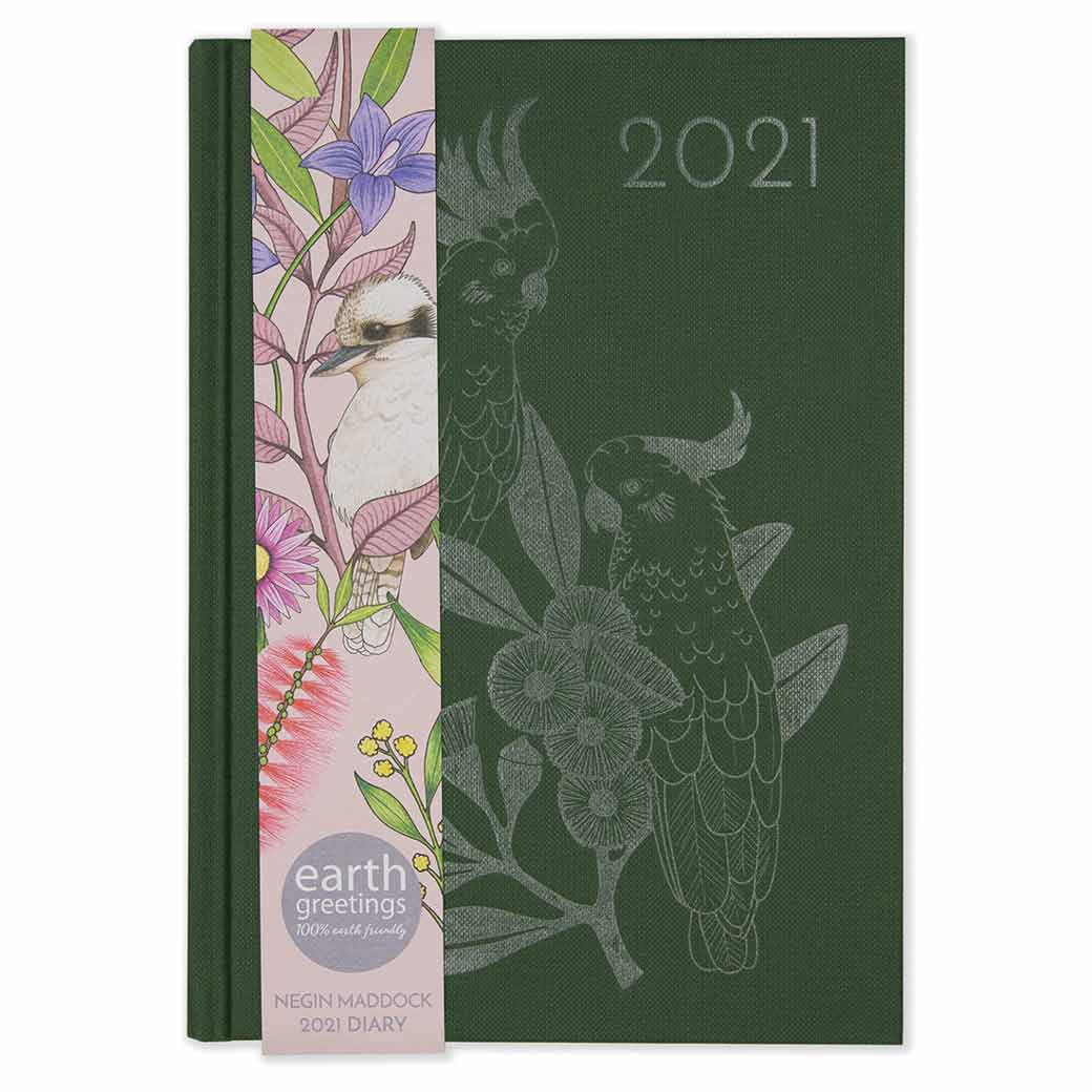 2021 Australian Diary Forest Green