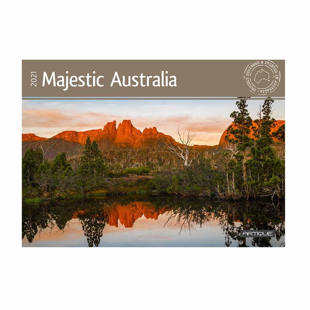 Australian Tourism Calendars 2021 Majestic & Scenic Cliffs, Mountains, Beaches, Deserts Printed in Australia