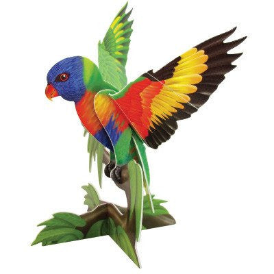 Australian Made Gifts & Souvenirs with the Rainbow Lorikeet 3D Construction Postcard -by Odd Ball. For the best Australian online shopping for a Accessories - 1