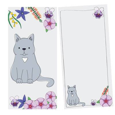 Australian Made Gifts & Souvenirs with the Cat Notepad -by Bits of Australia. For the best Australian online shopping for a Stationery - 1