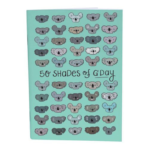 Cheeky Koala Notebook for Fun Australian Gifts Online