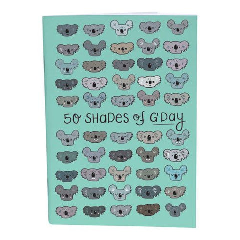 50 Shades of G'Day A6 Notebook