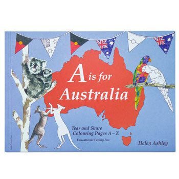 Australian Made Gifts & Souvenirs with the A-Z of Australia Colouring Book -by ColourMeArt. For the best Australian online shopping for a Accessories - 1